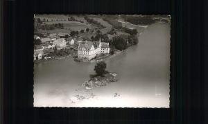 wz53547 Neuhaus Inn Flugaufnahme Kloster der Englischen Fraeulein Kategorie. Neuhaus a.Inn Alte Ansichtskarten