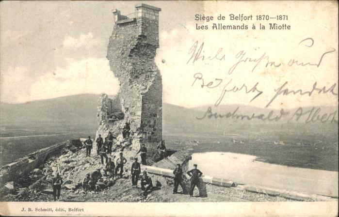 Belfort Alsace les Allemands a la Miotte / Belfort /Arrond. de Belfort