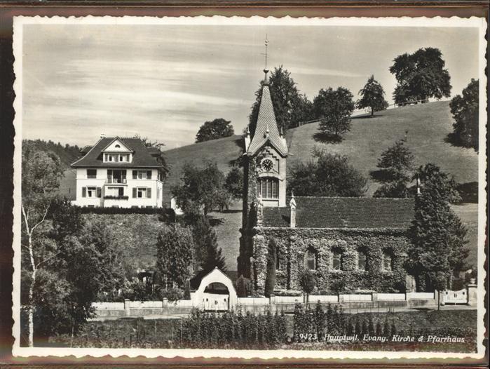 Hauptwil Evang. Kirche Pfarrhaus Kat. Hauptwil