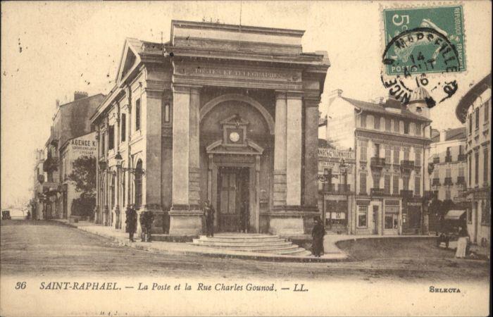 Saint-Raphael Var Saint-Raphael La Poste Rue Charles Gounod x