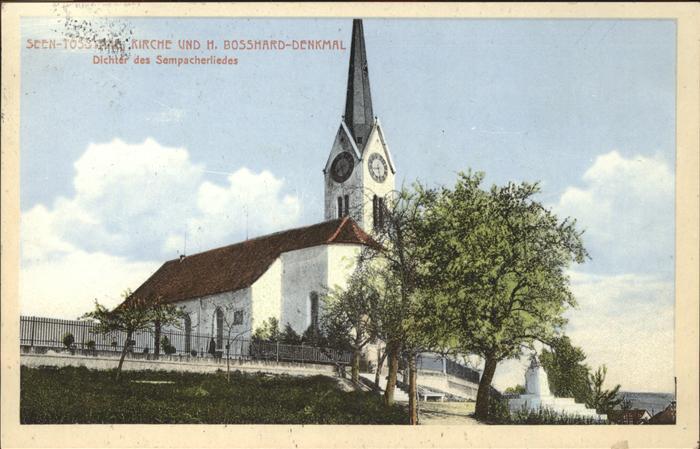 Bauma Seen Tossthalkirche Bosshard Denkmal Kat. Bauma