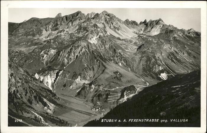 Stuben Vorarlberg Fexenstrasse Valluga Kat. Kloesterle