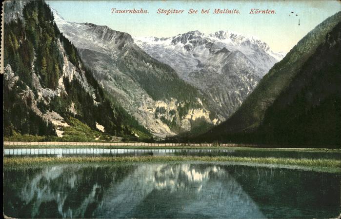 Tauernbahn Stapitzer See Mallnitz Kat. Bad Gastein