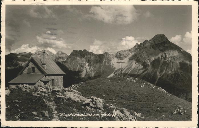 Warth Vorarlberg Mindelheimerhuette Biberkopf Gipfelkreuz Kat. Warth