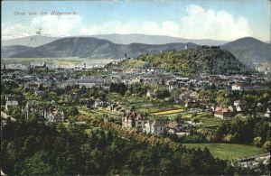 Graz Teilansicht Graz Schlossberg Grazer Becken Blick von der Hilmwarte Kat. Graz