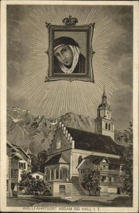 Absam Wallfahrtsort Absam Basilika St. Michael Heiligenbild Kat. Absam