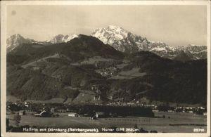 Hallein Duernberg Salzbergwerk Hoher Goell Berchtesgadener Alpen Kat. Hallein