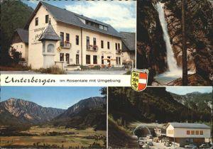 Ferlach Kaernten Gasthof zur Post Unterbergen im Rosental Wasserfall Tunnel Stadtwappen / Ferlach /Klagenfurt-Villach