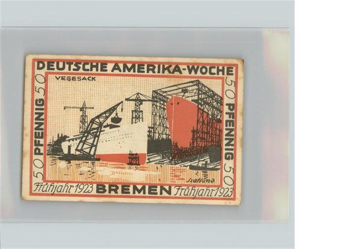 Vegesack 50 Pfennig Notgeld Kat. Bremen