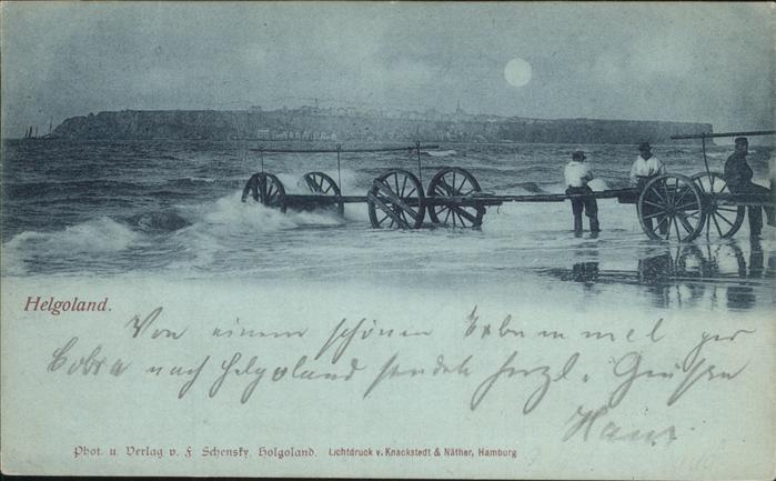 Helgoland Waagen im Wasser / Helgoland /Pinneberg LKR