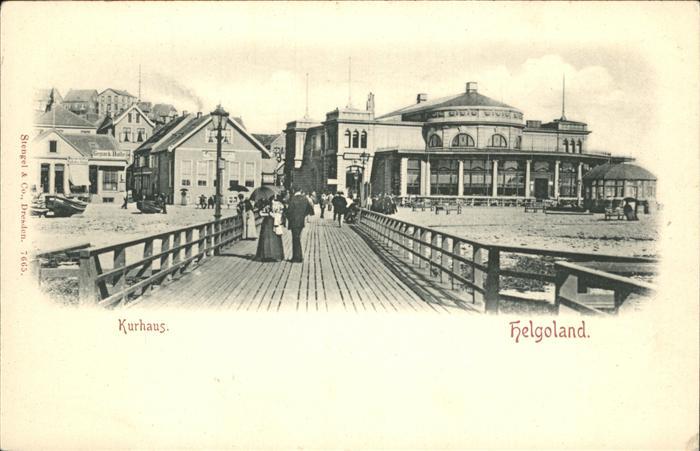 Helgoland Kurhaus Seebruecke / Helgoland /Pinneberg LKR