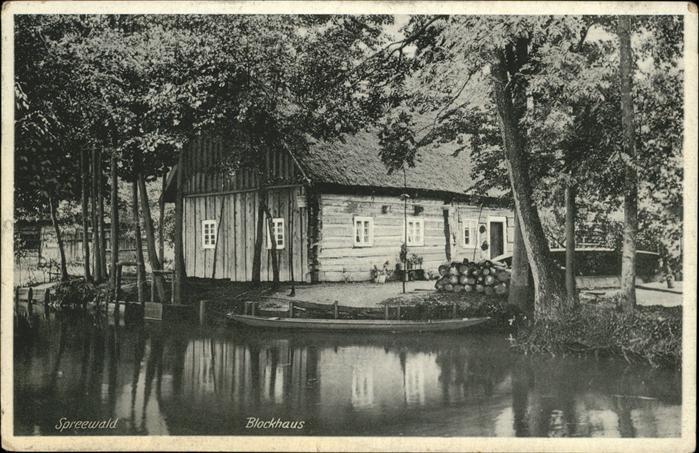 Spreewald Blockhaus Kat. Luebbenau