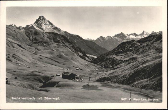 Hochkrumbach Hochkrumbach Biberkopf x / Warth Vorarlberg /Bludenz-Bregenzer Wald
