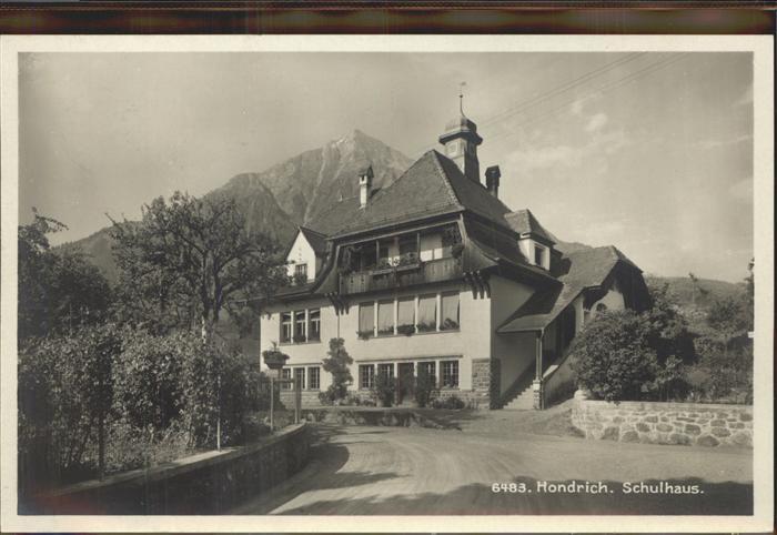 Hondrich Schulhaus Kat. Hondrich