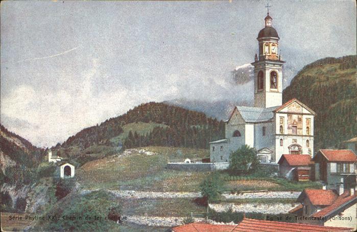 Tiefencastel Kirche Grisons Kat. Tiefencastel