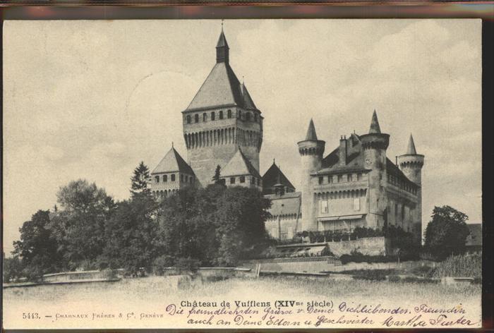 Vufflens le Chateau Chateau de Vufflens XIVme siecle Kat. Vufflens le Chateau