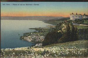 Caux VD Palace et vue sur Montreux Clarens Lac Leman Kat. Caux
