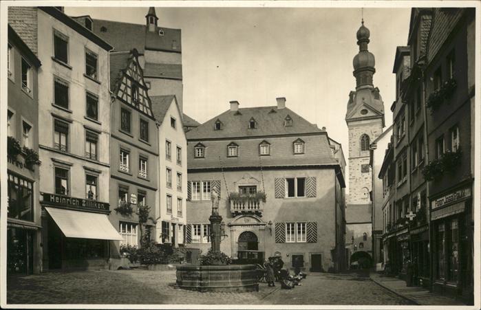 Cochem Mosel Brunnen Marktplatz Kat. Cochem