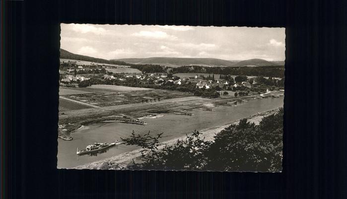Wehrden Blick auf Weser und Wehrden Kat. Beverungen