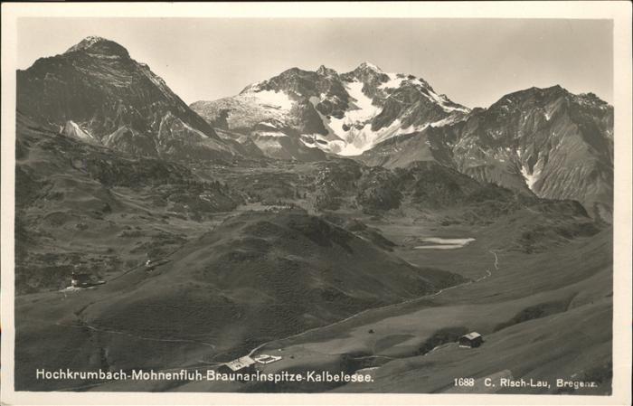 Hochkrumbach Mohnenfluh Braunarlnspitze Kalbelesee / Warth Vorarlberg /Bludenz-Bregenzer Wald