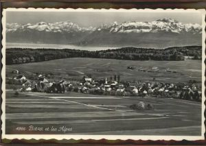 kk09696 Biere VD Biere et les Alpes   Feldpost Kategorie. Biere Alte Ansichtskarten