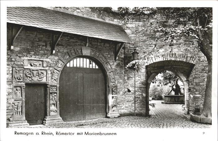 Remagen Roemertor Marienbrunnen Kat. Remagen