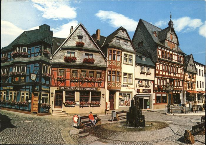 Adenau Marktplatz Fachwerk Kat. Adenau