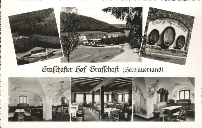 Schmallenberg Grafschafter Hof mit Grafschafter Keller Horst Manns Kat. Schmallenberg