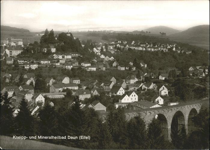 Daun Ortsansicht mit Kneipp  und Mineralbad  Kat. Daun