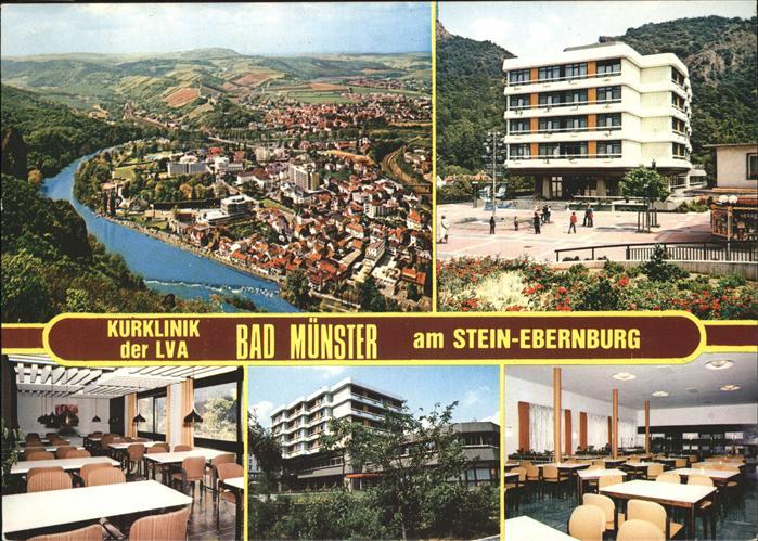 Bad Muenster Stein Ebernburg Ortsansicht und Kurklinik der LVA am Stein Ebernburg / Bad Muenster am Stein-Ebernburg /Bad Kreuznach LKR
