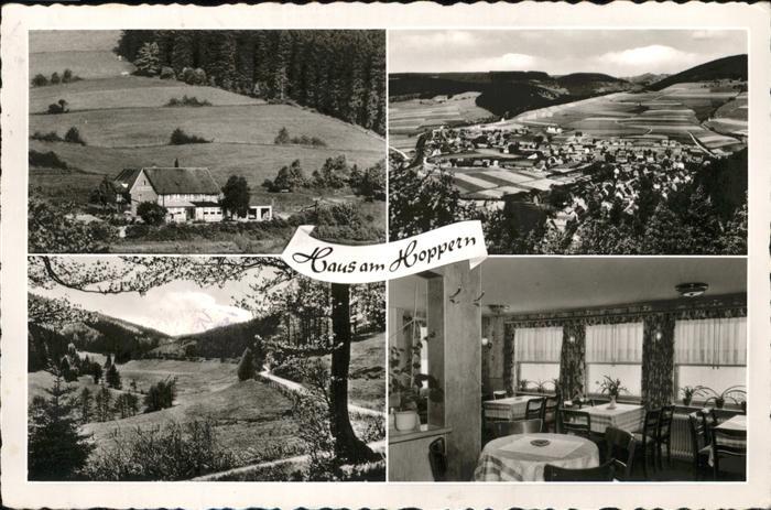 Willingen Sauerland Ortsansicht und Haus am Hoppern / Willingen (Upland) /Waldeck-Frankenberg LKR