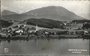 Obertrum See Teilansicht Obertrum am See Gaisberg Kat. Obertrum am See