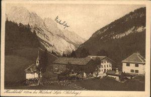 Weissbach Lofer Teilansicht Hirschbuehel Steinberge / Weissbach bei Lofer /Pinzgau-Pongau