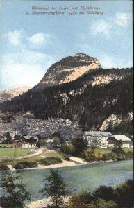 Weissbach Lofer Teilansicht Weissbach Hochkranz Kammerlinghorn / Weissbach bei Lofer /Pinzgau-Pongau