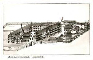 Schwarzach Pongau ehem. Abtei Schwarzach Gesamtansicht Zeichnung Kat. Schwarzach im Pongau