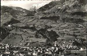 Schwarzach Pongau Panorama Schwarzach und St. Veit Salzachtal mit Hochkoenig Kat. Schwarzach im Pongau