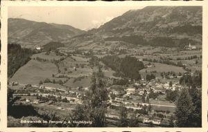 Schwarzach Pongau Panorama Schwarzach Salzachtal mit Hochkoenig Kat. Schwarzach im Pongau