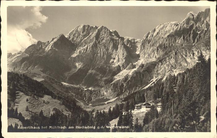 Muehlbach Hochkoenig Rupertihaus am Hochkoenig Wetterwand Berchtesgadener Alpen Kat. Muehlbach am Hochkoenig