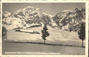 Muehlbach Hochkoenig Koppalpenhaus am Hochkoenig Wetterwand Berchtesgadener Alpen Kat. Muehlbach am Hochkoenig
