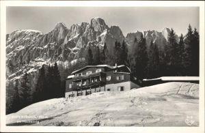 Muehlbach Hochkoenig Rupertihaus am Hochko?nig Berchtesgadener Alpen Kat. Muehlbach am Hochkoenig