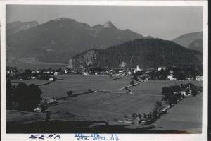 Strobl Teilansicht Strobl am Wolfgangsee Schafberg Salzkammergut Kat. Strobl