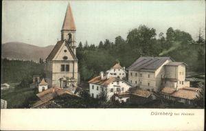 Hallein Teilansicht Duernberg Kirche Tennengau Kat. Hallein