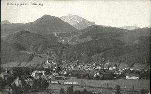 Hallein Panorama Hallein gegen Duerrnberg Tennengau Kat. Hallein