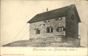 Muehlbach Hochkoenig Schutzhaus am Hochkoenig Berchtesgadener Alpen Kat. Muehlbach am Hochkoenig