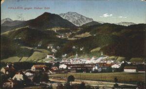 Hallein Teilansicht Hallein gegen den Hohen Goell Tennengau Kat. Hallein