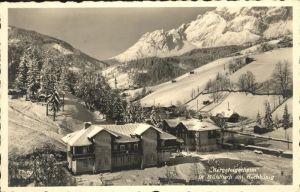 Muehlbach Hochkoenig Bergsteigerheim Berchtesgadener Alpen Kat. Muehlbach am Hochkoenig