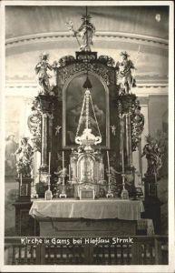 Gams Hieflau Kirche Altar Innen Kat. Gams bei Hieflau