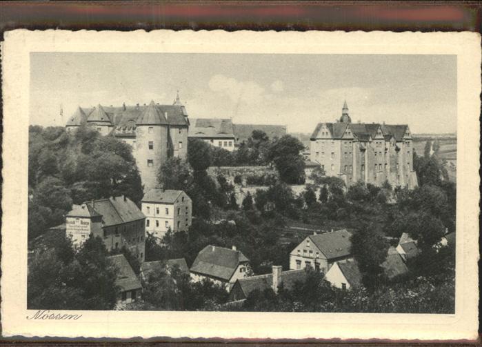 Nossen Blick zum Schloss Kat. Nossen