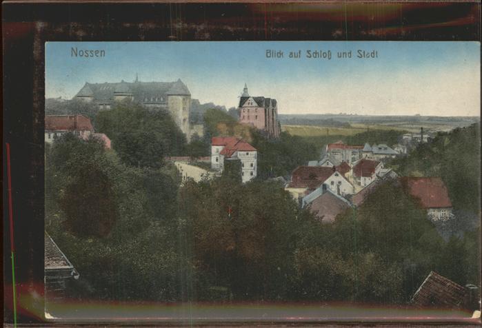 Nossen Teilansicht Blick zum Schloss Kat. Nossen