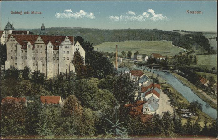 Nossen Blick zum Schloss Mulde Kat. Nossen